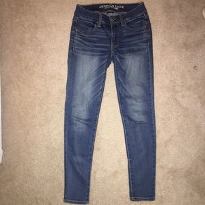 american eagle skinny jeans (jeggings)